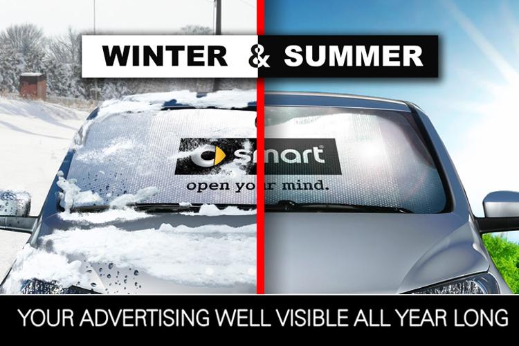 Advertising car shades 2 IN 1 - tiny