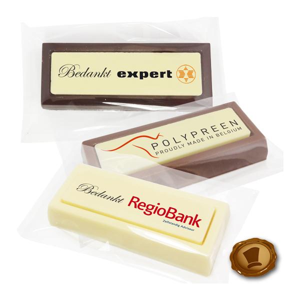 Chocolade *Blokken* per stuk met bedrukking