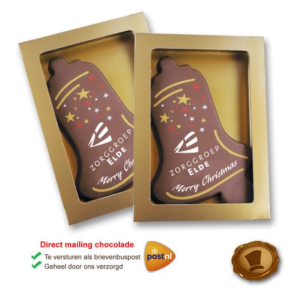 Bedrukte Chocolade Kerstklok tablet