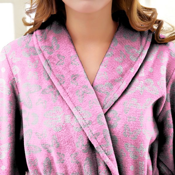 Digital Printed Cotton Viscose Velour Bathrobes (Kimono)
