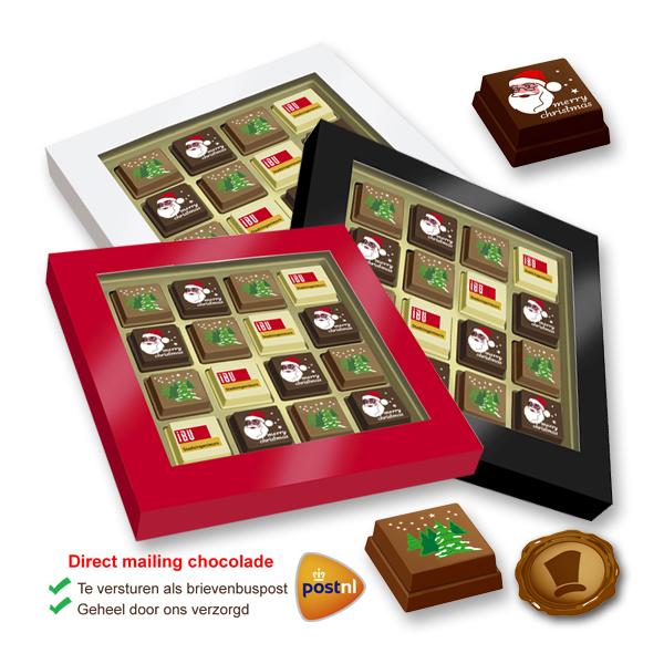 Premium Kerst Pralines 16 stuks met logo