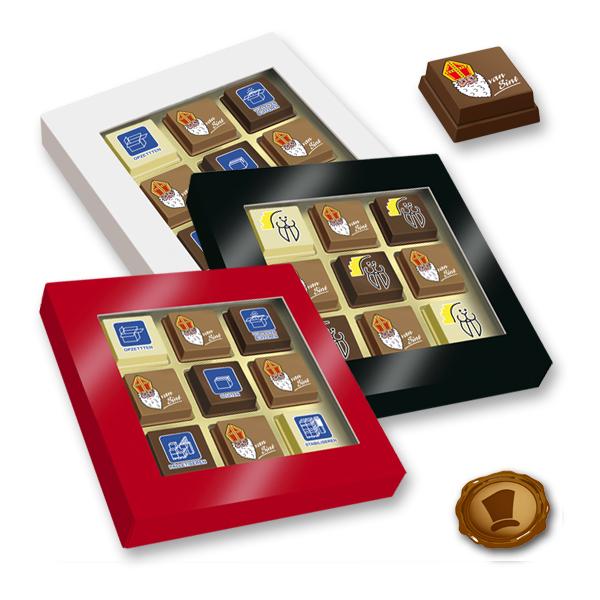 Premium Sint Pralines 9 stuks met logo