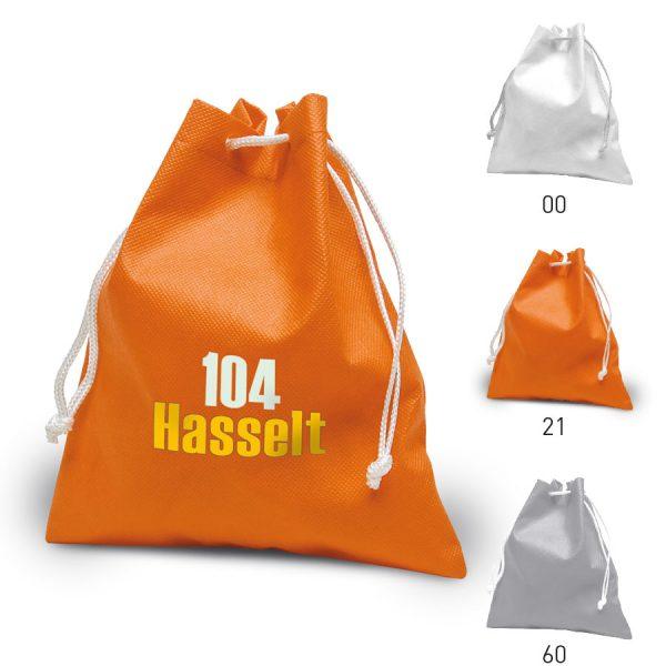 Bedrukte tas Hasselt met draagkoorden