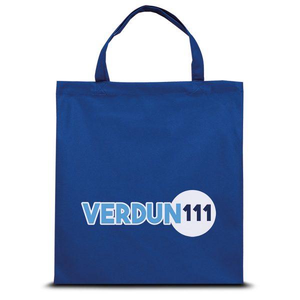 Jersey polyester boodschappentas Verdun met bedrukking