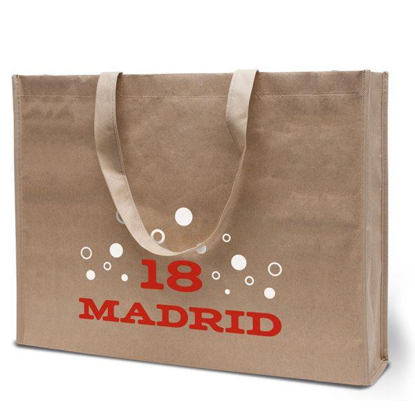 Bedrukte boodschappentas Madrid