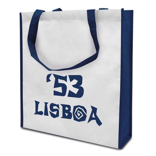 Bedrukte boodschappentas Lisboa met plooien