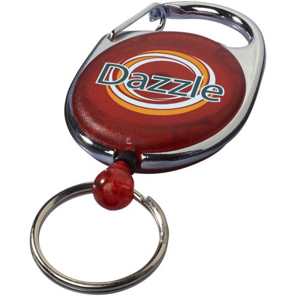 Bedrukte Gerlos sleutelhanger en rollerclip