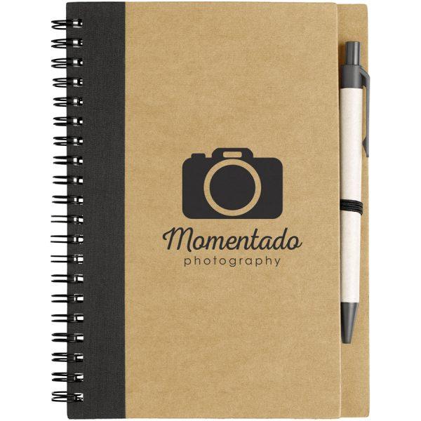 Bedrukte Priestly A6 notitieboek met pen