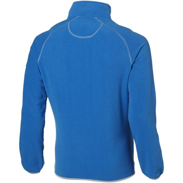 Drop shot heren microfleece jack met bedrukking
