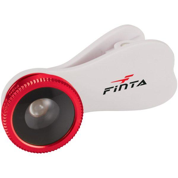 Fisheye lens met bedrukte clip