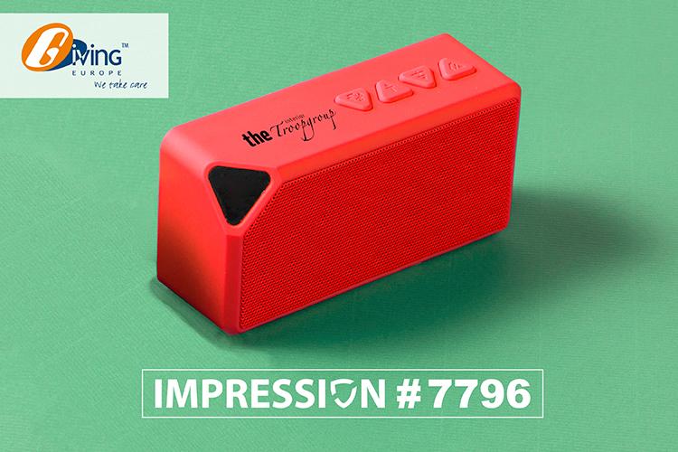 Kunststof speaker met draadloze verbindingstechnologie