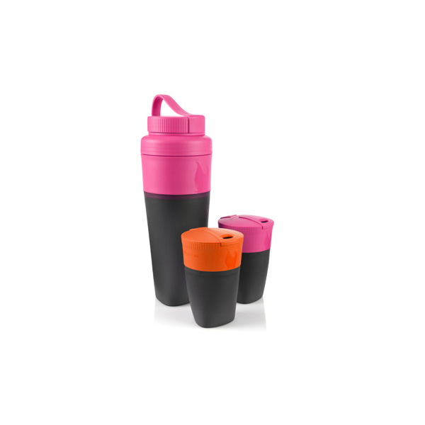 Herbruikbare, opvouwbare drinkbekers. (Light My Fire Pack-Up-Cup)