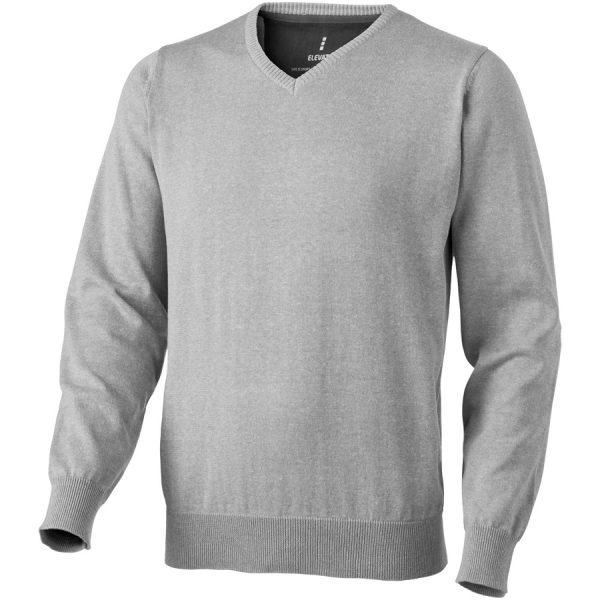 Bedrukte Spruce heren pullover met V-hals