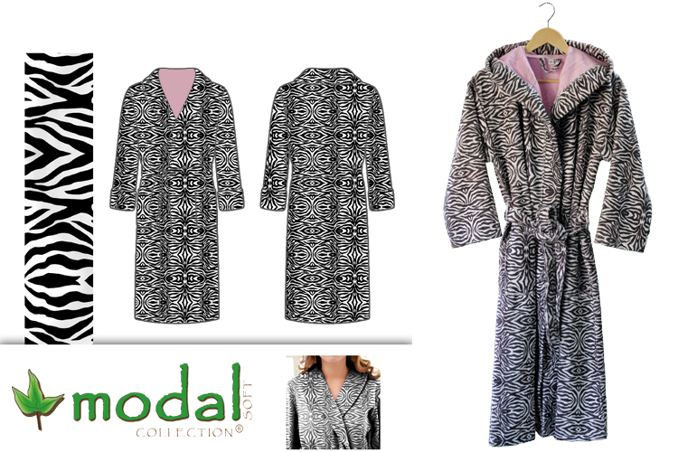 Digital printed cottonviscose velour bathrobes 750x500px