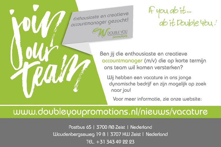 Enthousiast verkooptalent gezocht - Double You Promotions