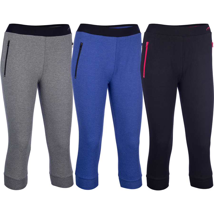 Jogging Trousers 3/4 Melange • Women •