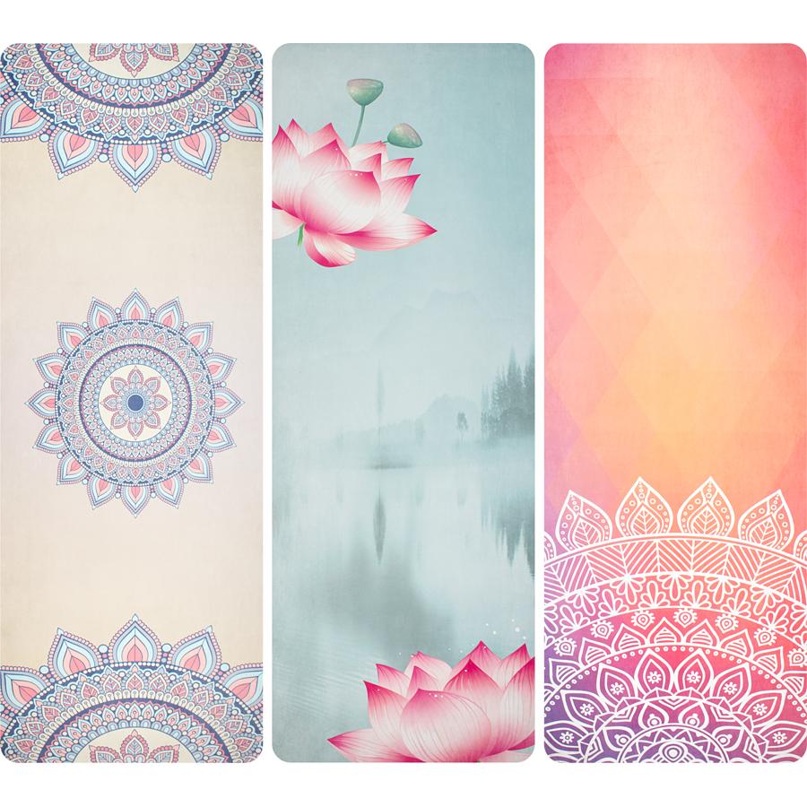 Mat Yoga Print • Suede •