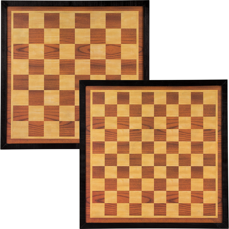 Draughts/Chess Board 49.5 x 49.5 cm
