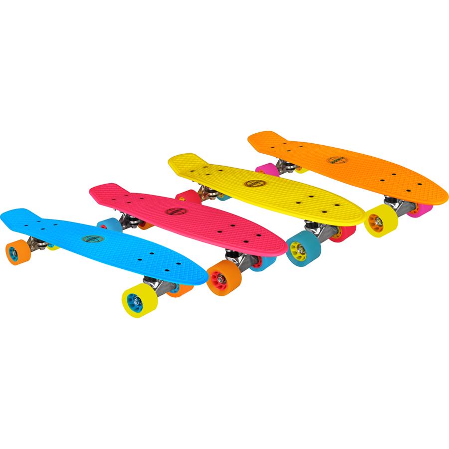 """Plastic Skateboard 22.5"""" • Flipgrip-board •"""