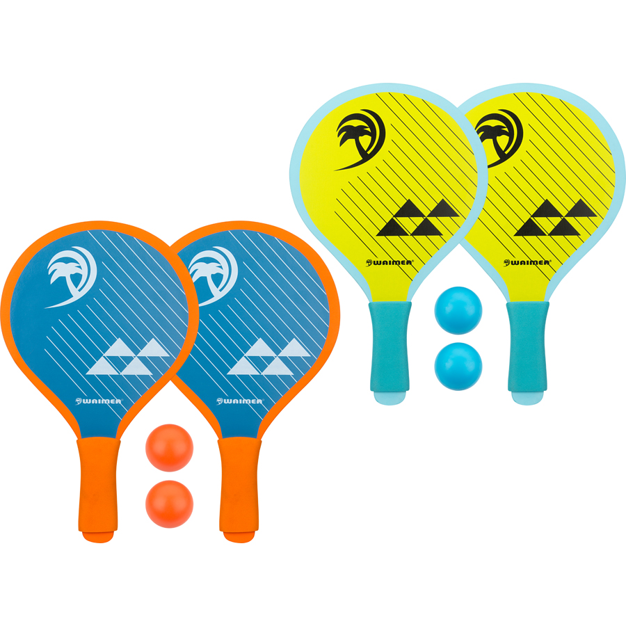 Beach Paddle Set with Foam Grip • Palm Springs •