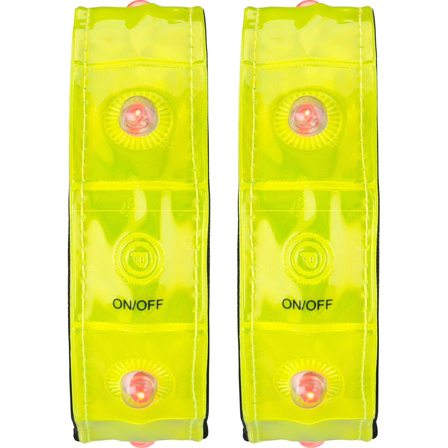 Sports Armband • Pair • Reflective with 4 Lights •