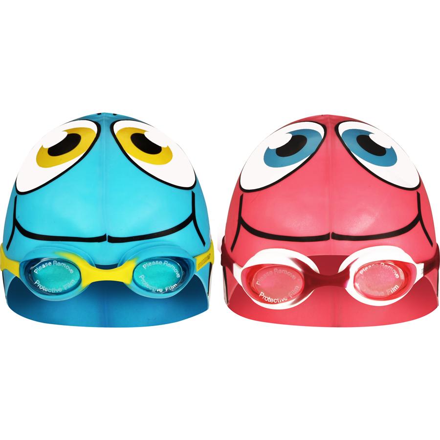Swimming Cap Fish with Swimming Goggles • Junior •