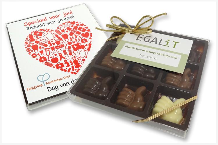 9-vaks Geschenkdoosje Chocolade Duimpjes