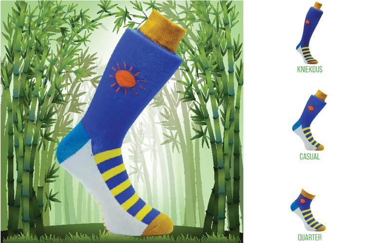 Bamboe Sokken in eigen ontwerp bij Bosscher International
