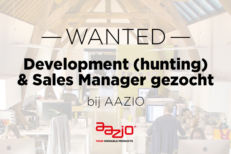 Development (hunting) and Sales Manager gezocht AAZIO