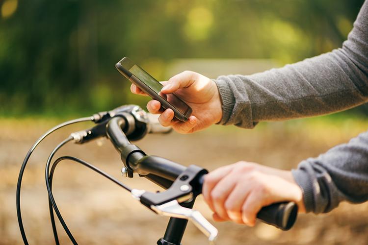 Niet meer appen op de fiets