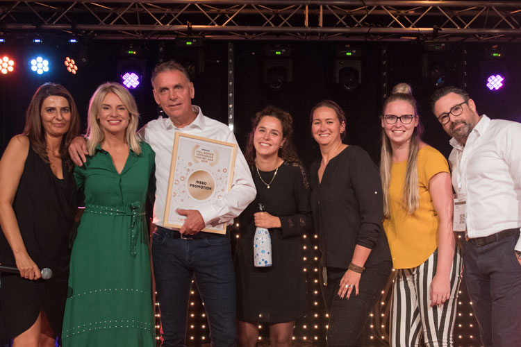 Webo Promotion winnaar Full Service Leverancier van het Jaar 2019