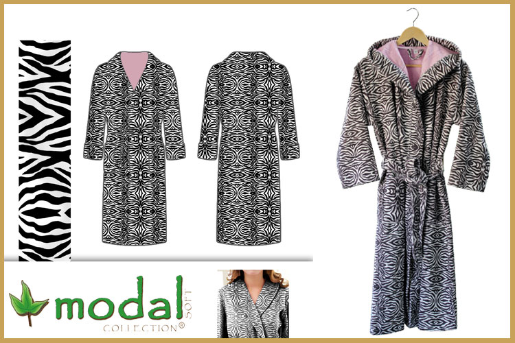 Digital Printed Cotton Viscose Velour Bathrobes