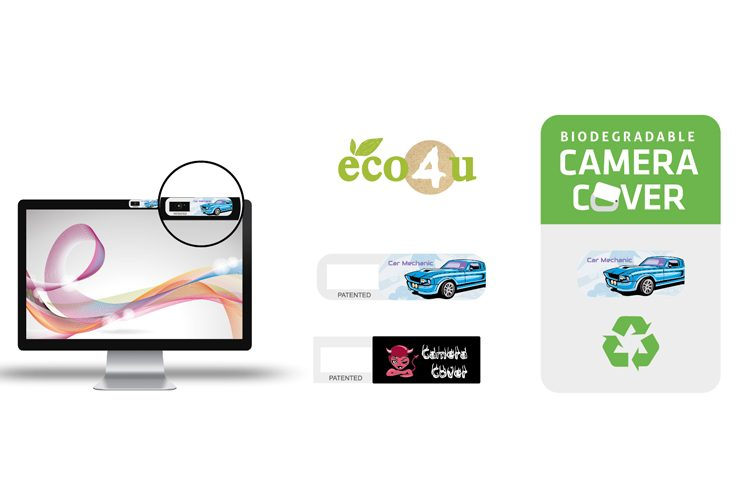 Biodegradable sliding camera cover