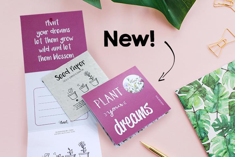Plant your dreams – wenskaart (groeipapier)