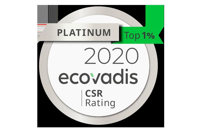 ecovadis platinum