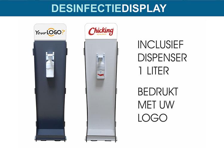 Desinfectie displays met uw logo