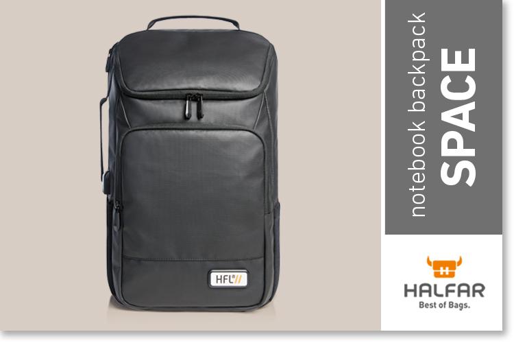 Notebook backpack SPACE - HALFAR