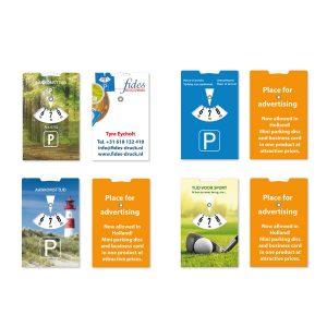 Visitekaartje en parkeerschijf in één